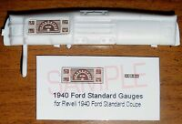 1940 FORD STANDARD COUPE GAUGE FACES for 1/25 scale REVELL KITS