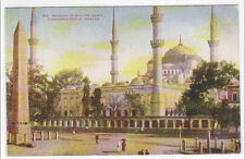 Mosque Sultan Ahmid Istanbul Turkey 1910c postcard