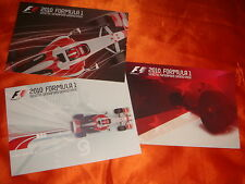 2010 Formula 1, SINGTEL Singapore Grand Prix, 3 postcards, mint condition