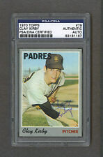 Clay Kirby signed San Diego Padres 1970 Topps baseball card Psa