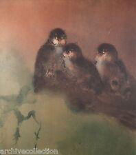 Kaiko Moti Owl Light Original Etching S/N Artwork