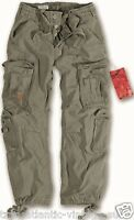 SURPLUS AIRBORNE COMBAT TROUSERS MENS ARMY VINTAGE CARGO WORK WEAR PANTS OLIVE
