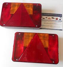 2 x Radex 5800 Rear Trailer Combination Lights 12v 6 Function