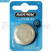 1 x Rayovac CR2430 battery Lithium 3V Coin cell Watch ERC2430 BR2430