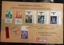 1940 Bochnia Gg Germany Oversized Registered Cover To Frankfurt Famous Castles