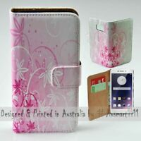 For OPPO Series - Pink Floral Theme Print Wallet Mobile Phone Case Cover
