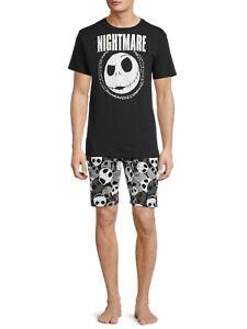 The Nightmare Before Christmas Mens Pajamas Set Shirt Shorts Size S-2XL Gift NEW