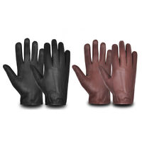 Mens Driving Gloves REAL Soft Leather Top Quality Retro Vintage Design