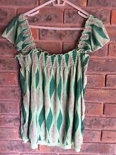 DKNY JEANS Womens Green Top Size M