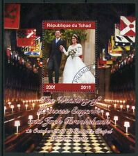 Chad 2018 CTO Princess Eugenie & Jack Royal Wedding 1v M/S I Royalty Stamps