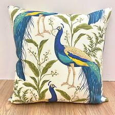 910. Large Peacock 100% Cotton Cushion Cover