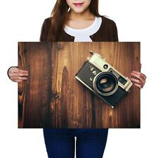 A2 | Vintage Wood Camera Photography Size A2 Poster Print Photo Art Gift #14518