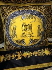 "$600 VERSACE TIGER PILLOW AFRICA LION 27"" RARE DISCONTINUED Estate NEW"