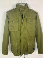 MENS BLACK PREMIUM EMP KHAKI GREEN WINTER LINED CASUAL RAIN COAT JACKET SIZE S