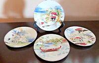 Pier 1 Imports Destination Porcelain Dessert/Appetizer Plates x4