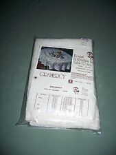 Vtg Sealed Package Nothingham Lace 60 x 92 in Oblong Ivory Tablecloth Gramercy