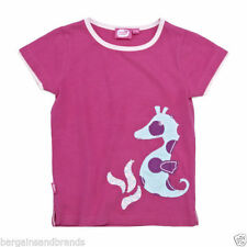 Girls' Embroidered 100% Cotton Crew Neck T-Shirts, Top & Shirts (2-16 Years)