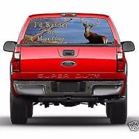 I'd Rather Be Hunting Rear Window Truck Tint Fits Ford Chevrolet Dodge