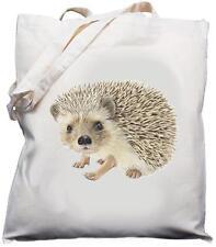 Hedgehog Design - Natural (Cream) Cotton Shoulder Bag / Shopper /Tote