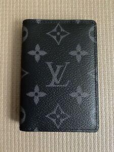 100% Authentic Louis Vuitton Monogram Eclipse Pocket Organizer