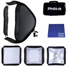 Phot-R 60cm Folding Softbox Diffuser Hotshoe Flash Speedlight Chamois Cloth