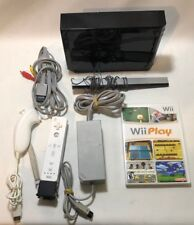 Nintendo Wii Console Bundle - Wii Play - TESTED - Black