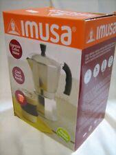 COFFEE ESPRESSO COFFEE MAKER 3 CUPS ITALIAN CUBAN COFFEE IMUSA NEW BOX