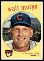 1959 Topps Baseball Walt Moryn Chicago Cubs #488