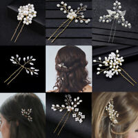 Accessories Crystal Bridesmaid Tiara Bridal Clips Pearl Hair Pin  Hairpins