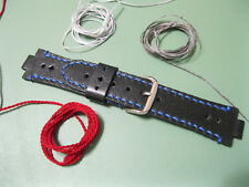 Handmade Leather Watch Strap Oris Aquis , Oris Diver tt1 , Black