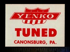 YENKO Tuned - Original Vintage 1960's 70's Racing Decal/Sticker CHEVY Chevrolet