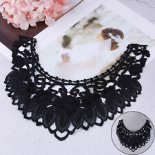 New listing 1Pc 3D flower black embroidery lace applique patches cord scrapbookiTe