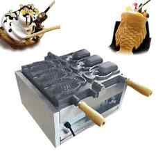 Three holes Fish type waffle machine,electric open mouth taiyaki maker fryer T