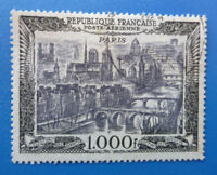 FRANCE 1950 AIRMAIL 1000f USED STAMP SG 1059