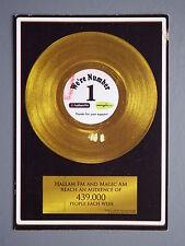 R&L Postcard: Radio Hallam FM Sheffield, Advertising Promo, Vinyl Record