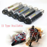 Universal Motorcycle Exhaust Muffler Pipe Silencer Slip on 51mm Exhaust System