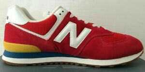 Size 6 New Balance 574 men's red sports gym trainers / EU 39 mens sneakers