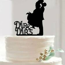 Bride and Groom Cake Topper Acrylic Cake Decoration for Wedding Decoration
