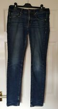 Women's AMERICAN EAGLE Dark Wash Skinny Stretch Jeans Size 10