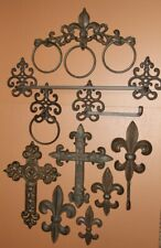 Fancy French Country Bathroom Decor Accessories, Cast Iron, Styling - 10 items