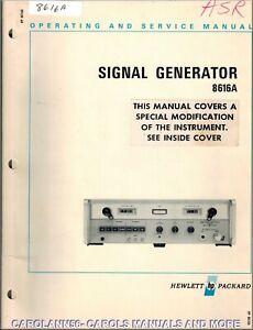 HP Manual 8616A SIGNAL GENERATOR
