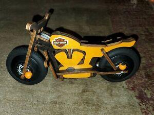 Vintage bike MOTORCYCLE HARLEY DAVIDSON Wooden toy car