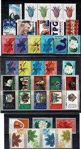 Netherlands MNH set of 38 Postage Bulk Rate Coil Stamps.Topic Flowers & Animals