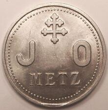 Jeton de nécessité uniface, Metz, Jeunes Ouvriers, vers 1920, Rare !!