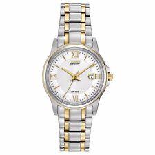 Citizen Eco-Drive Women's EW1914-56A White Dial Two-Tone Bracelet 28mm Watch