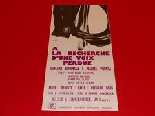 COLL.J. LE BOURHIS AFFICHES / CONCERT Marcel PROUST 1969 ANGERS AMCA Rare