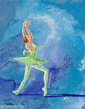 "Original Acrylic Abstract Ballerina Painting ""Fairy"" Artist Signed"