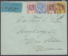 1934 Straits Settlements Multi-franking Airmail to Holland; Netherlands