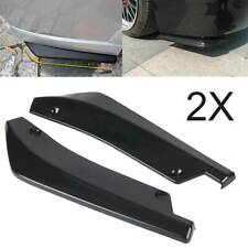 2x Car Rear Lip Bumper Spoiler Canard Diffuser Wrap Angle Splitter Anti-crash CV