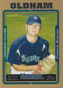 2005 Topps Update Gold #240 Thomas Oldham FY 1373/2005 Seattle Mariners